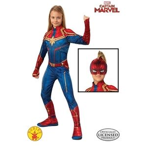 Girls Captain Marvel Hero Suit Costume small